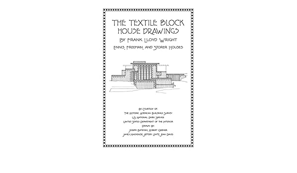 The textile block house drawings by frank lloyd wright j randal the textile block house drawings by frank lloyd wright j randal wilkerson 9781926517360 amazon books asfbconference2016 Images