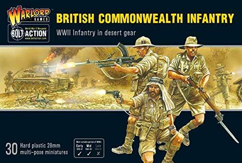 Bolt Action British Commonwealth Desert Infantry 1:56 WWII Military Wargaming Plastic Model Kit