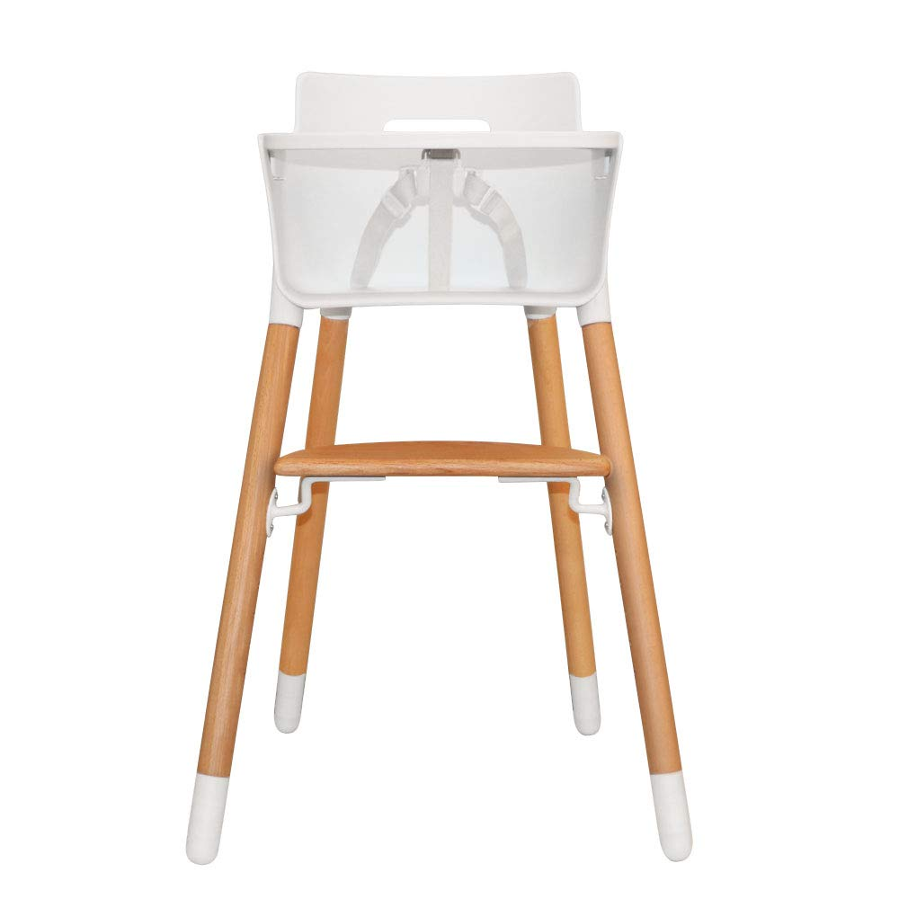 Asunflower Wooden High Chair Adjustable Feeding Baby Highchairs Solution with Tray for Baby/Infants/Toddlers by Asunflower