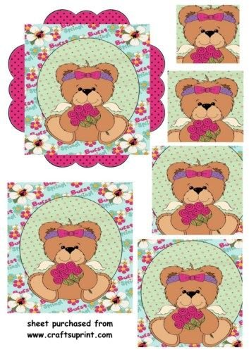 Spring Teddy Pyramid topper 2/by Sharon Poore