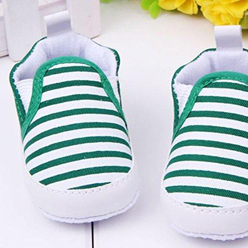 Xiangze Zapatillas de bebé unisex algodón cómoda mezcla de fondo rayas antideslizantes zapatos rY3Syh