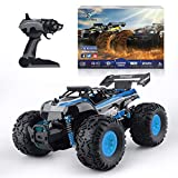 RC Car hobby, 1/18 Scale Truggy with 2.4GHz Remote control off road car monster truck for Kids and Adults (Blue)