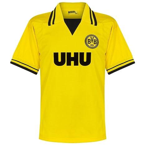 BVB - Camiseta retro UHU Amarillo amarillo Talla:large: Amazon.es ...