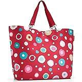Reisenthel Shopper XL, Shopping Bag, Grocery Bag, Funky Dots 2 (Red), ZU3048