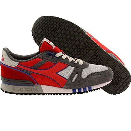 Diadora Men's Titan II Running Shoe, Grey Alaska/Ferrari Red Italy, 9 M - Ferrari Grey