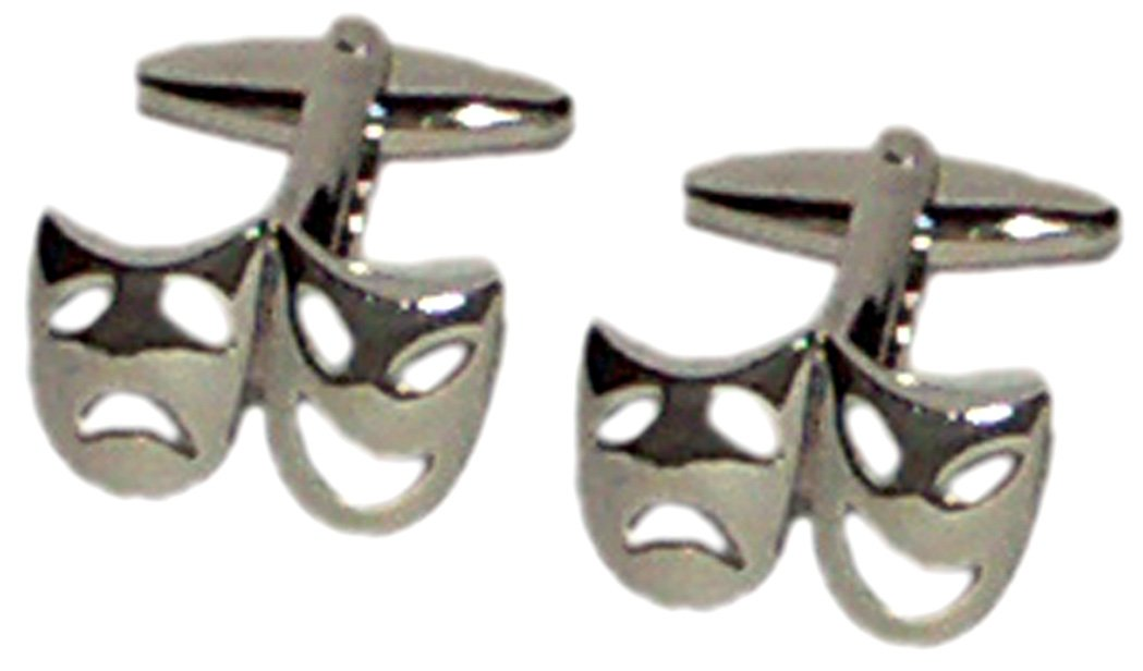 Gtr Men's Cufflinks Theatre Masks (X2N043) One Size