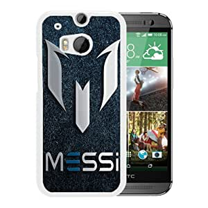 Host Sale HTC ONE M8 Case ,Fashion And Durable Designed With Soccer Player Lionel Messi 63 White HTC ONE M8 Cover