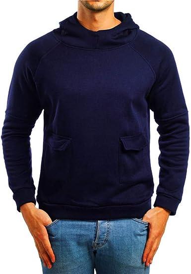 Hommes Fashion Automne Hiver Pleine Manches Couleur Unie