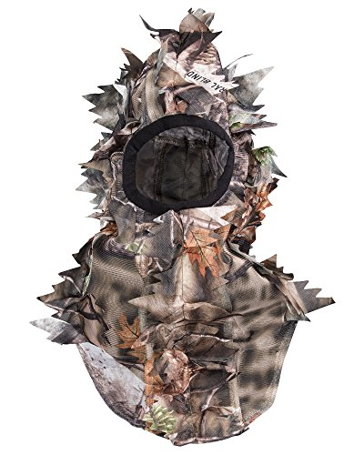 North Mountain Gear Ultra Light Hunting Camouflage Full Cover 3D Leafy Face Mask One Size Fits Most (Net Turkey Head)