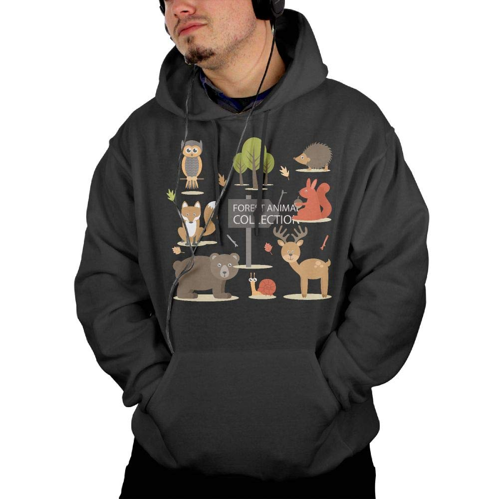 Aiguan Zoo Mens Hoodie Sweatshirt with Pocket