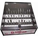 Drillco 70S033DC 33 Pc Bur Display, Carbide Bur Display, Double Cut
