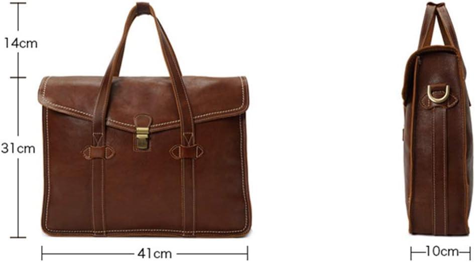 KCXUT Briefcase Business Briefcase Shoulder Handbags with an Removable Shoulder Strap for Men Suitable for Outing Business Laptop Bags Color : Brown, Size : 411031cm