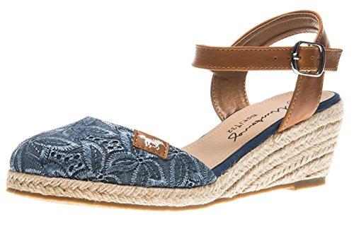 Mustang Women's 1066-910-8 Ankle Strap Sandals, Blue (Blue) Blue (Blue)