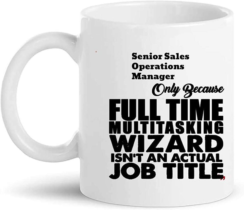 Ceramic Mug Gerente De Operaciones De Ventas Senior Jefe Líder Gestión Compañero De Trabajo Divertido 330 Ml Regalos Para El Hogar Duraderos Regalo Cumpleaños Tazas De Té Tazas De