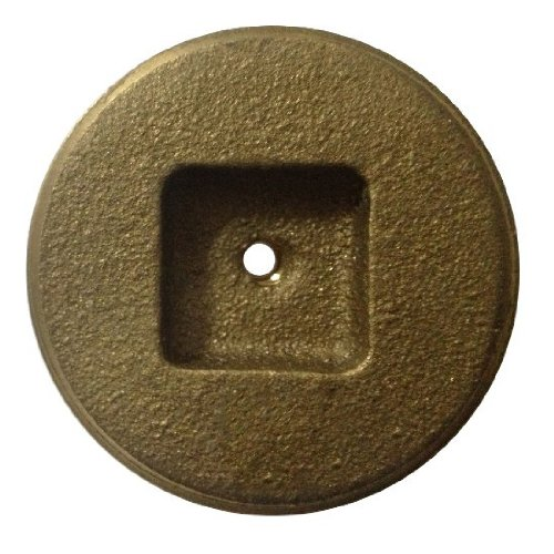 Aviditi 90373 3-Inch Brass Countersunk and Tapped Cleanout Plug