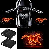 3D Hot Horse Wireless Magnetic Car Door Step LED Welcome Logo Shadow Ghost Light Laser Projector Lamp fit Ford Focus 2 Fiesta F150 Mondeo Transit Mustang