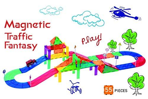- Mag-Genius Ultimate Racing 55 Piece Magnet Racing Set Includes 8 Bonus Magnetic Road Signs 2 Bonus People Toy Race Track Set