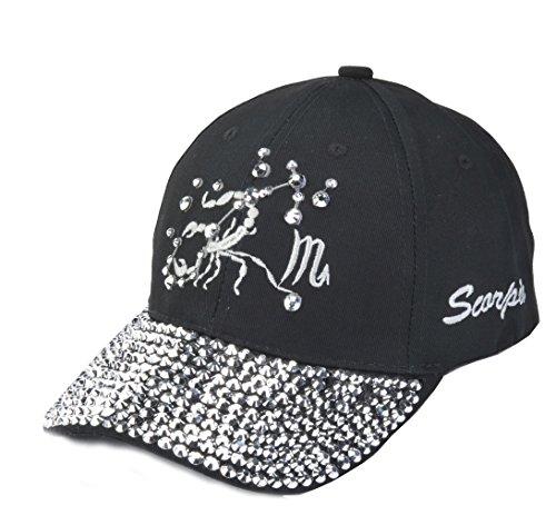 TOP HEADWEAR Zodiac Sign Bejeweled Baseball Cap - Scorpio