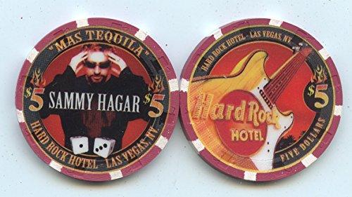 $5 Hard Rock Sammy Hagar Live at the Hard Rock Casino Las Vegas 2002 MAS TEQUILA Las Vegas Nevada Casino Chip Uncirculated Condition Collectors Chip Real live Chip from the Casino (Casino Mas)