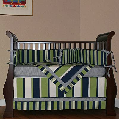 Hoohobbers 4-Piece Crib Bedding, Lacrosse from Hoohobbers