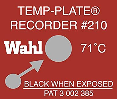Wahl Instruments 210 071C Single Position Temp Plate 71 Degrees C Pack