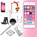 Apple iPod Touch 6th generation Music player, 32GB -PINK- w/ iTouch Accessory Kit includes; Bluetooth Speaker + Clear Case & Screen Protector + ipod 5-Angle Adjustable Stand + iPod Stylus Pen + Cloth