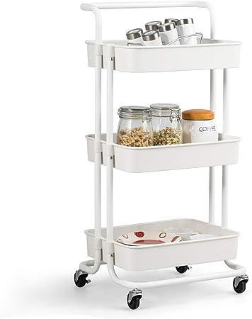 Küchenwagen Rollregal Rollwagen Küchentrolley Beistellwagen Servierwagen Regal