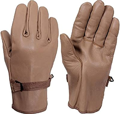 Coyote Brown D-3A Gloves Military Style Leather Work Gloves