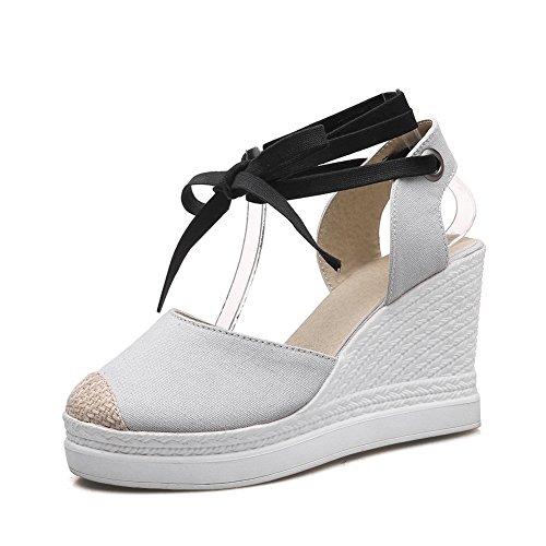 Femme 5 BalaMasa 36 Blanc Compensées Blanc Sandales gOx8qaZ