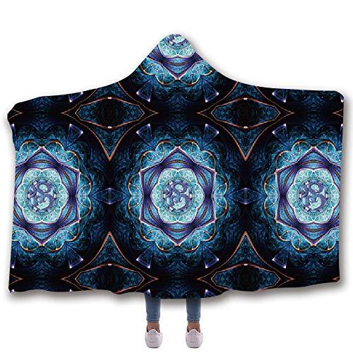 blue Accogliente Da Inverno 3d Con Confortevole Super Indossare Cappuccio Calda Blue Arts Stampato kids Felpa Morbida Caldo Coperta C6wqZ