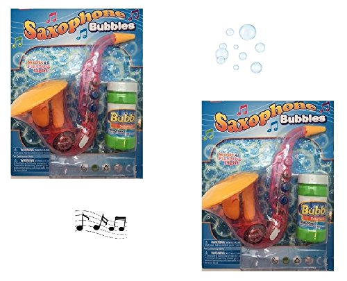 Novelty Treasures FUN Flashing Musical Pink Saxophone Bubble Maker (2 Pack) Bubbles For (Guitar Flash Costume)