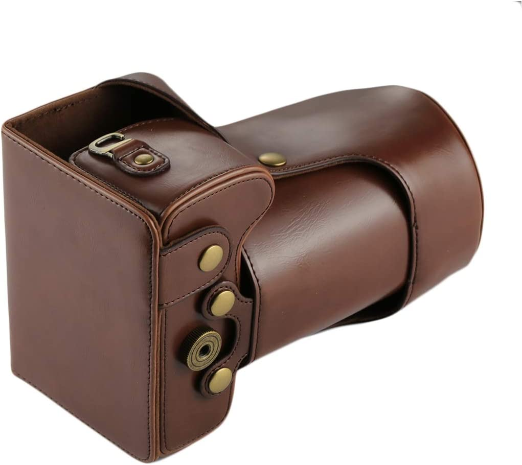 Premium Material XIAOMIN Full Body Camera PU Leather Case Bag for Canon EOS 760D // 750D Color : Coffee 18-135mm Lens