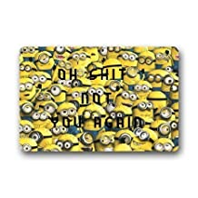 Machine-washable Door Mat Cute Minions Indoor/Outdoor Doormat 23.6(L) x 15.7(W) Inch