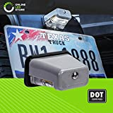 Stud-Mount LED Trailer License Plate Lights [DOT/SAE Certified] [IP67 Waterproof Rated] [Ultra-Durable] License Tags for Trailers, RVs, Trucks & Boats - Gray Housing