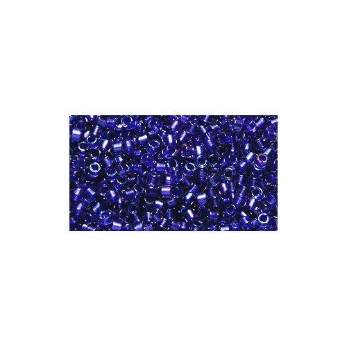 Miyuki Delica Seed Bead 11/0 DB1754, Violet Lined Crystal Aurora Borealis Finish, 9-Gram/Pack