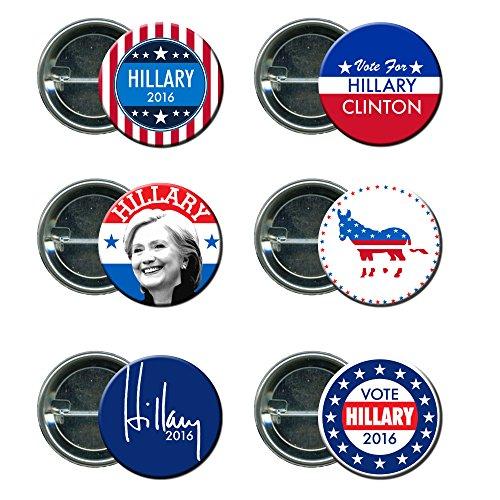 Hillary Clinton Round Button / Pin Mini Combo Campaign Set 2 (Hillary Clinton Campaign Buttons)