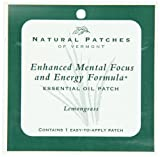 Natural Patches Of Vermont Lemongrass Mental Focus & Energy Essential Oil Body Patches, Single Patch Pouch,  Units (Pack of 6)