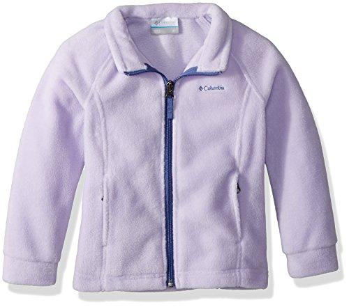 Columbia Girls' Big' Benton Springs Fleece, Soft Violet/Eve, Large -