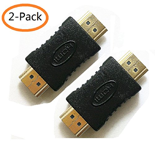 HDMI Adapter,HDMI Male to Male Coupler Extender Connector for 3D and 4K Ultra HD TV Stick HDMI Cable Extension ()