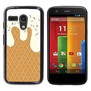 iKiki Tech / Estuche rígido - Cream Waffle Sweets Summer Sun - Motorola Moto G 1 1ST Gen I X1032