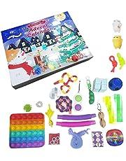 HEITIGN 2021 Fidget Adventskalender Speelgoedset, 24 stuks Kerst Aftelkalender Speelgoed Adventskalender Geschenkdoos Zintuiglijke Speelgoed voor Xmas Vakantie Party Favor