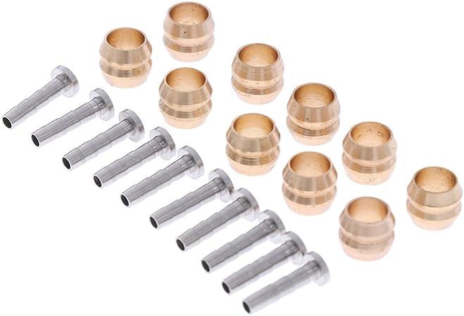 para Shimano BH90 BH59 Cocoarm Juego de 10 conectores flexibles de freno de disco hidr/áulico para bicicleta color verde oliva