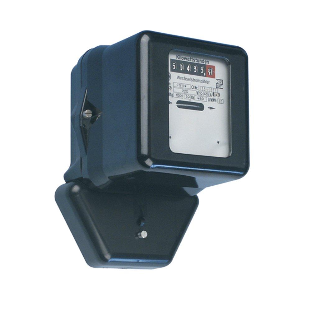 REV WECHSELSTROMZÄ HLER ǀ mechanischer Zwischen-Stromzä hler zur internen Energieverbrauchs-Kontrolle ǀ 230V 10/40A 50Hz ǀ ungeeicht ǀ Farbe: schwarz 0515470555