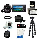 Sony HDRCX240/B Full HD Handycam Camcorder (Black) + Sony 32GB Class 10 Micro SDHC R40 Memory Card + Extra Focus Rechargeable NPBX1 Battery And Charger+ Soft Shell Camera Gadget Bag + Accessory Kit