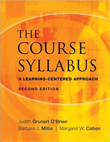 Image result for The Course Syllabus: A Learning-Centered Approach by Judith Grunert O'Brien