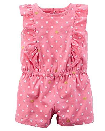 Dream Baby Romper - Carter's Baby Girls' Polka Dot Heart Print Romper 24 Months