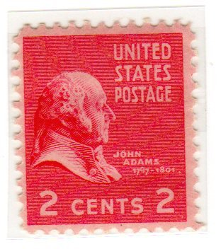Postage Stamps United States One Single 2 Cents Rose Carmine John Adams Presidential Issue Stamp