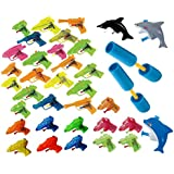 18 Piece Water Gun and Water Shooter Combo (Set Includes a Nice Assortment of Water Guns Shark Water Guns and 2 Water Shooters Each Measure 12'' and Shoots up to 30 Feet)