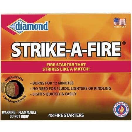 Diamond ''Strike a Fire'' Fire Starter Kit, 48 count/box - 2 box package. by Diamond