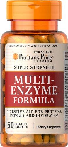 Пуританской Гордость супер силой нескольких ферментов-60 Caplets